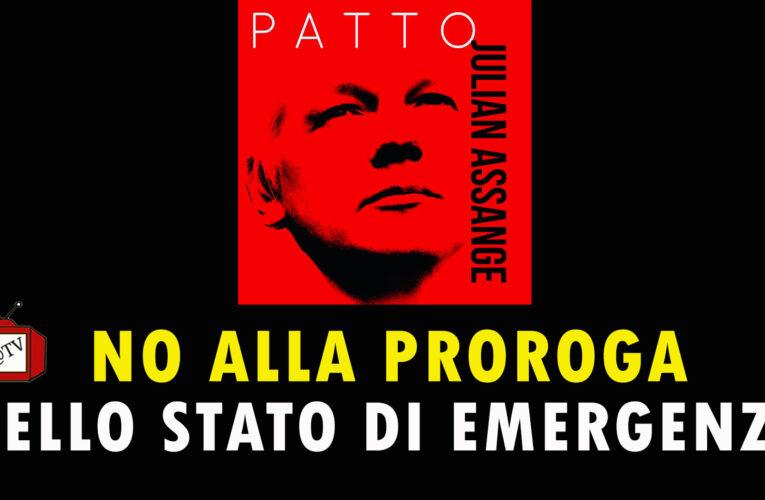 21-07-2020 Patto Julian Assange contro la proroga dello stato d'emergenza