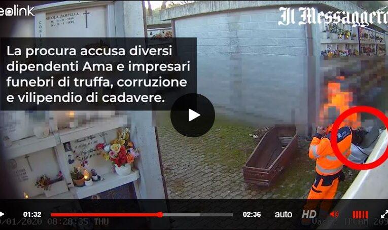 17-07-2020 Roma: scandalo finte cremazioni, dipendenti Ama sezionano le salme