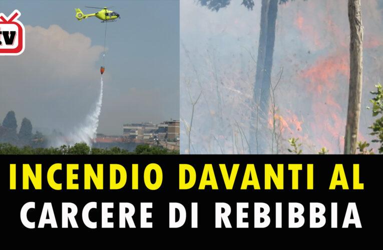 04-08-2020 INCENDIO DAVANTI AL CARCERE DI REBIBBIA