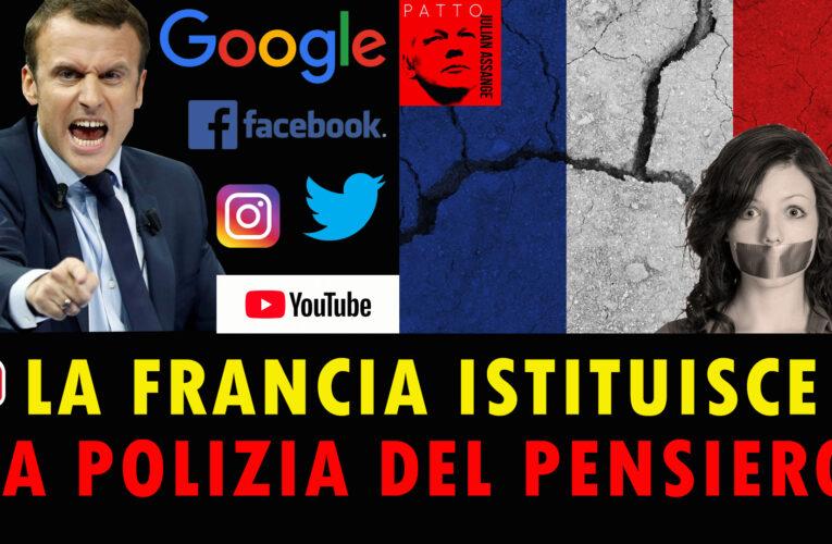 26-08-2020 LA FRANCIA ISTITUISCE  LA POLIZIA DEL PENSIERO