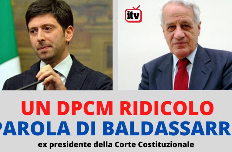 16-10-2020 DPCM RIDICOLO PAROLA DI BALDASSARRE (ex presidente della Corte Costituzionale)