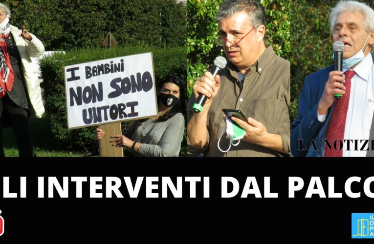 13-10-2020 GLI INTERVENTI DAL PALCO