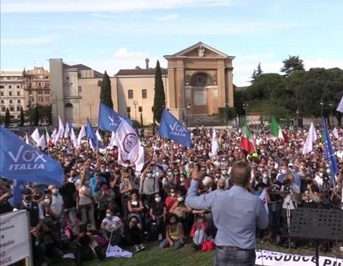 14-10-2020 Roma, 4 manifestazioni contro il Governo. Ma di scarso impatto (Ettore Lembo)