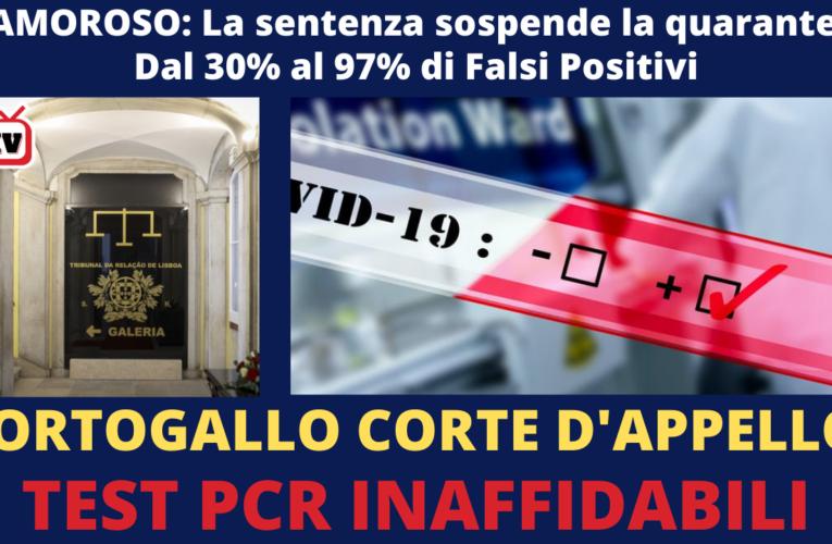 23-11-2020 TEST PCR INAFFIDABILI (CORTE D'APPELLO DI LISBONA)