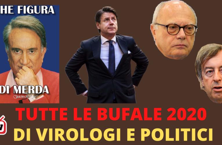 12-01-2021 TUTTE LE BUFALE DI VIROLOGI E POLITICI 2020