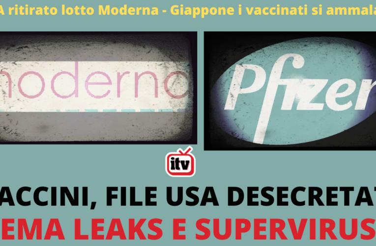 20-01-2021 VACCINI DOCUMENTI DESECRETATI EMA LEAKS E SUPERVIRUS