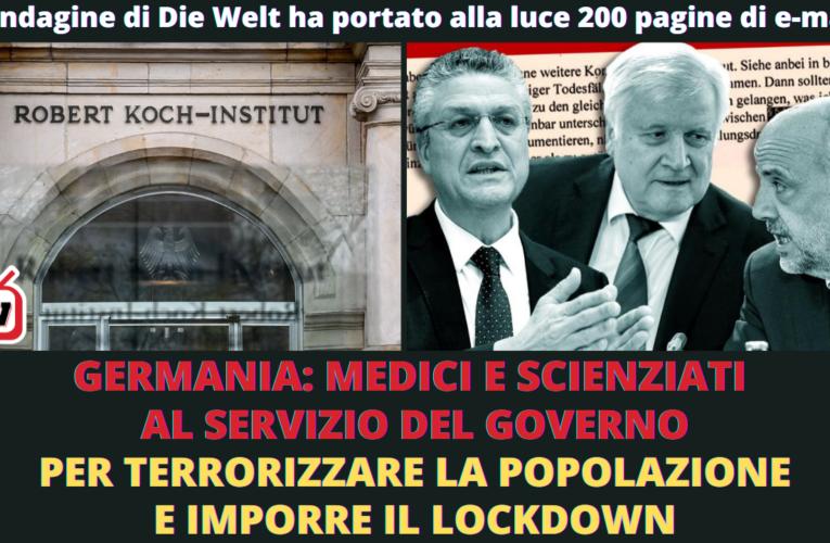 11-02-2021 GERMANIA: MEDICI E SCIENZIATI AL SERVIZIO DEL GOVERNO PER TERRORIZZARE LA POPOLAZIONE E IMPORRE IL LOCKDOWN