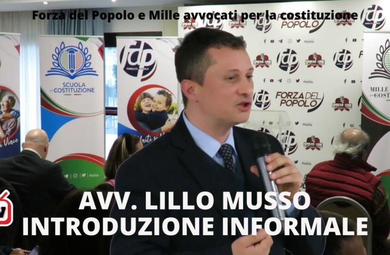 08-04-2021 INTRODUZIONE INFORMALE (Avv. Lillo Musso)