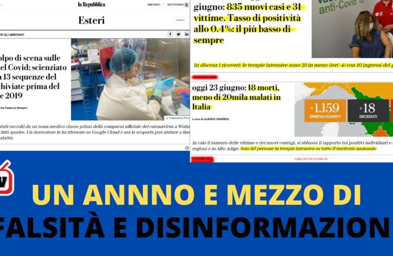 24-06-2021 UN ANNNO E MEZZO DI FALSITÀ E DISINFORMAZIONE