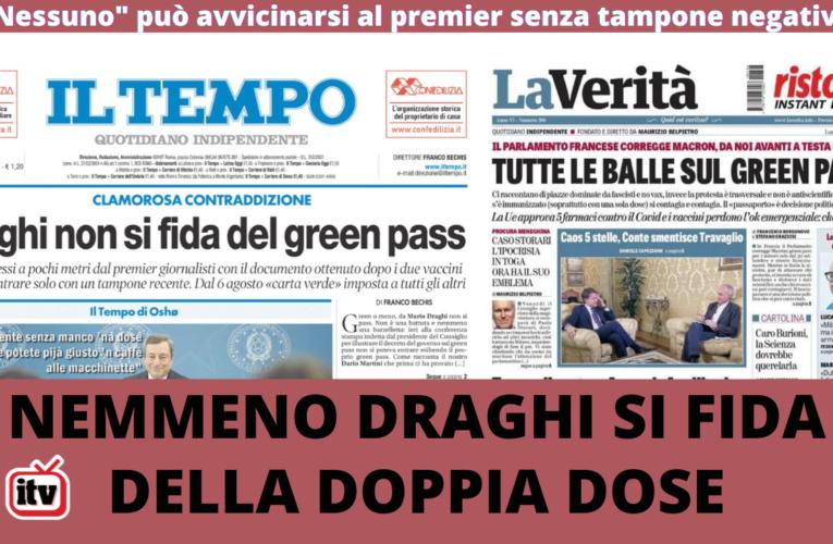 27-07-2021 DRAGHI NON SI FIDA DELLA DOPPIA DOSE