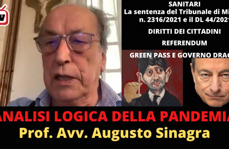 ANALISI LOGICA DELLA PANDEMIA (Prof. Avv. A. Sinagra)